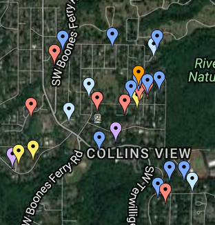Location of Collins View NET members