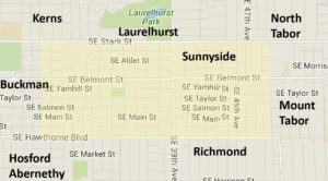 Sunnyside neighborhood map
